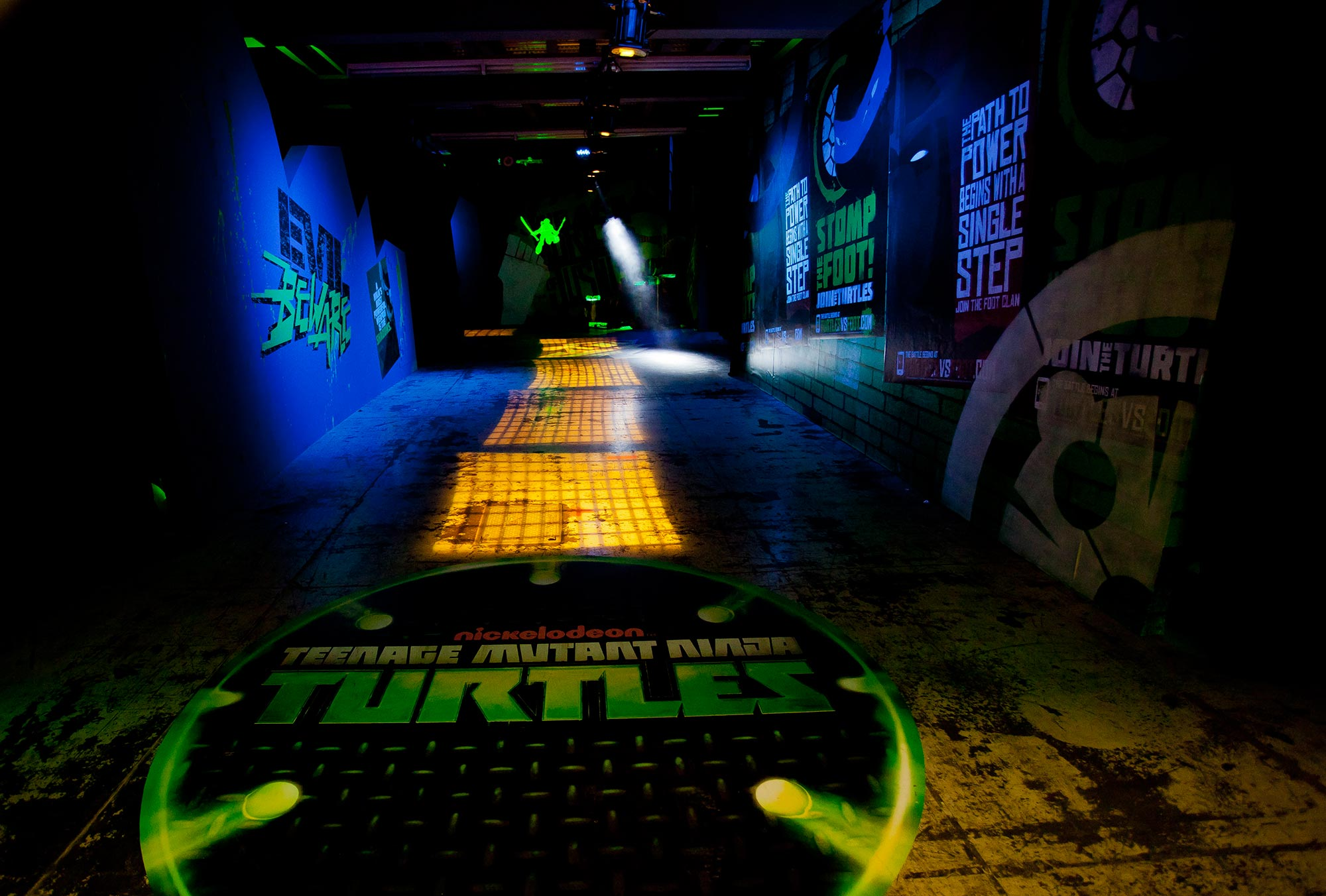 The entire hallway at the Javitz Center was transformed to resemble the TMNT iconic lair while serving as a main thoroughfare to activities at New York Comic Con.